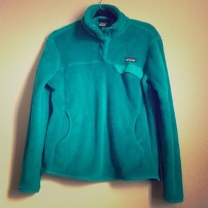Turquoise Patagonia Pullover Fleece Size M